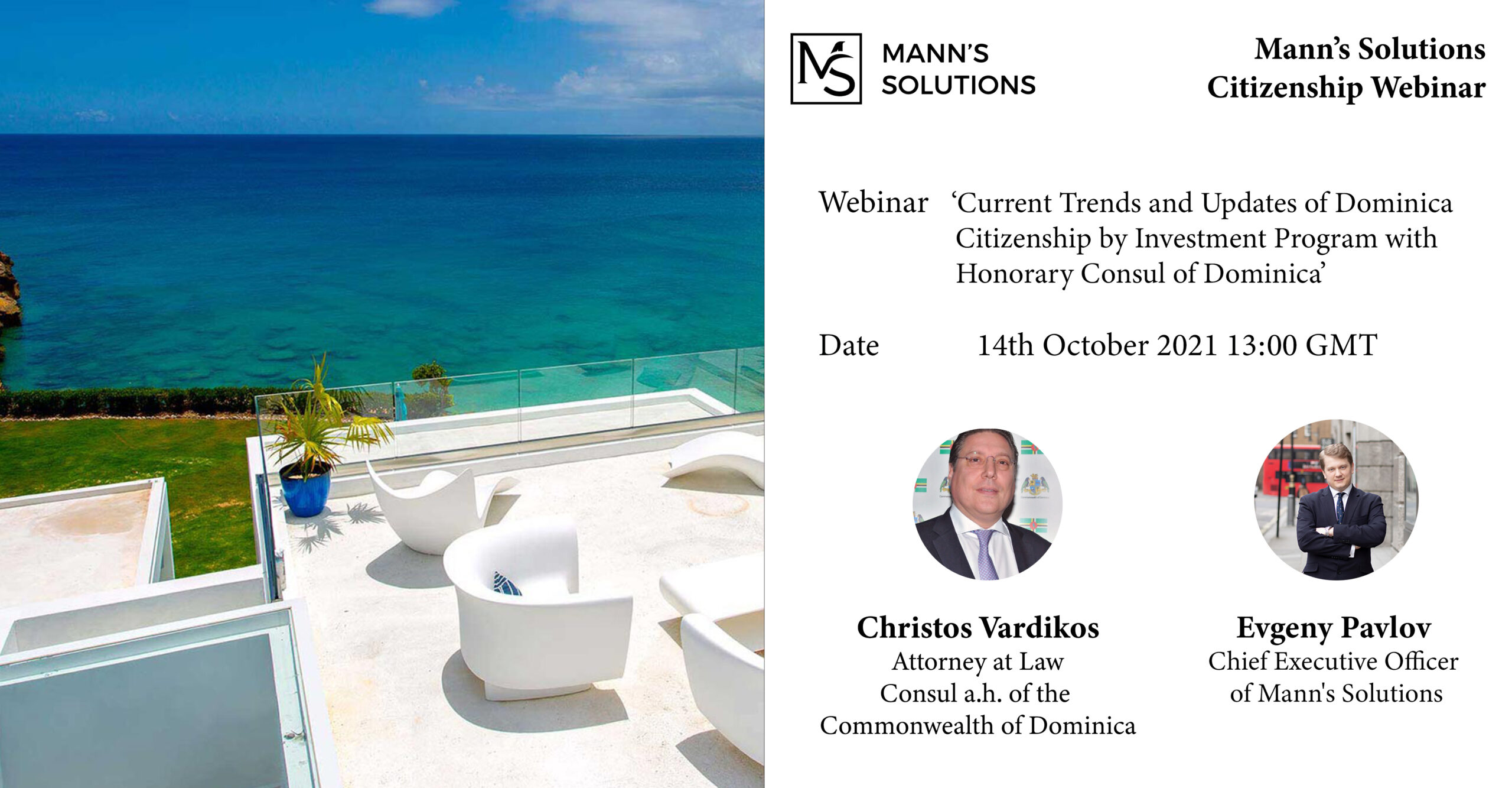 WEBINAR: Current Trends and Updates of Dominica Citizenship with Council a.h. of the Commonwealth of Dominica